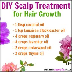DIY Scalp Treatment for Hair Growth - beautymunsta - free natural beauty hacks and more! - Grow fuller longer and luscious hair using this DIY scalp treatment for hair growth - Castor Oil For Hair Growth, Hair Growth Tips, Natural Hair Growth, Natural Hair Styles, Lotion, Essential Oils For Hair, Diy Hair Care, Hair Growth Treatment, Hair Treatment Products