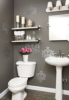 Home Decorating Projects   Better Homes U0026 Gardens   BHG.com. Downstairs BathroomBathroom  Wall ...