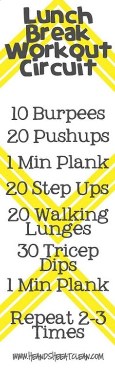 Quick Workouts You Can Do on Your Lunch Break - Lunch Break Workout Circuit - Awesome Full Body Workouts You Can Do Right At Home or On Your Lunch Break- Cardio Routine for Beginners, Abs Exercises You Can Bang Out Before Shower - You Don't Need to Hit th