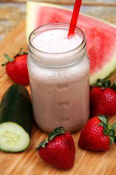 Rehydrate With This Refreshing Strawberry-Watermelon Smoothie