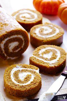 A classic pumpkin roll is always a great option for a fall dessert.