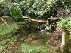 Fairy garden at Wookey Hole caves, Somerset Roman Bath Spa, Fairy Houses, Somerset, Caves, Georgian, Devon, Garden, Garten, Georgian Language