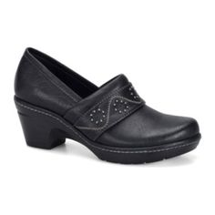 """<p>Featuring a classic clog design updated with an embroidered strap and modest heel, our must-have slip-on shoes keep you walking comfortably in style.</p><div style=""""page-break-after: always;""""><span style=""""display: none;"""">"""