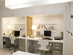 Aw, his and her (or his and his, or hers and hers) office space. :)
