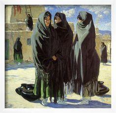 Taos Girls, 1916 Giclee Print by Walter Ufer