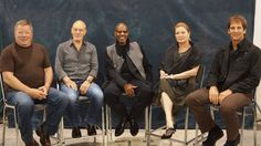 "All five of the ""Star Trek"" TV captains appeared together at the Wizard World Philadelphia Comic Con at the Pennsylvania Convention Center in June 2012. William Shatner, Patrick Stewart, Avery Brooks, Kate Mulgrew and Scott Bakula sat in chronological TV order (not ""history"" order"").  - photo by Tomlin Campbell photo for Wizard World"