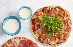 Roede-pizza med hjemmelaget bunn | www.greteroede.no | Oppskrifter | www.greteroede.no
