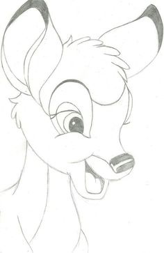 This Is my BESTEST bambi drawing EVAR Isn't he cute ??? I love it anyway =d Specialy his ears and eyes well done ira :'D Please comment
