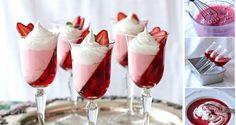 Skvěle vypadající pohár plný jahod z 3 ingrediencí | NejRecept.cz