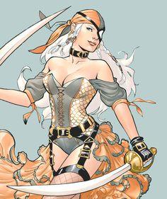 "barbaragordan: ""DC Bombshells // Rose Wilson aka The Ravager """