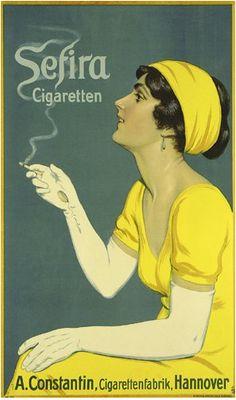 By K.W. Monogr., 1 9 1 2, Sefira Cigaretten.
