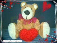 creaciones FOG: Oso crochet de San Valentín