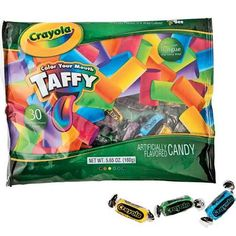 crayola colour your mouth taffy art party favours Crayon Birthday Parties, Art Birthday, Third Birthday, Birthday Ideas, Play Doh Party, Art Party, Party Time, Candy, Oriental Trading