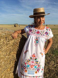 Entdecke lässige und festliche Kleider: Minikleid FLORIDA M, L Oaxaca Dress made by ModaFrida - Ethnic Fashion via DaWanda.com