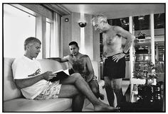 Larry Gagosian, Charles Saatchi and Leo Castelli