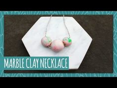 Marble Clay Necklace- HGTV Handmade