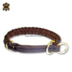"Fettleder Flechthalsband ""BRAIDER STOP"" MESSING... Collars, Personalized Items, Bracelets, Gifts, Jewelry, Braid, Handarbeit, Taschen, Leather"