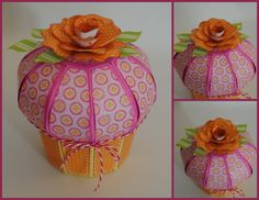 HAPPY BIRTHDAY TO YOU SVG KIT has this cute Cupcake Box and other great files.  Cheryl used such fun colors!!