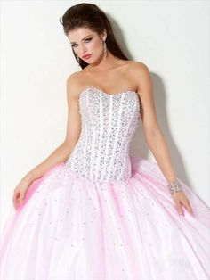 take out the sequence and pink and make it more simple... this style would be a cute wedding dress