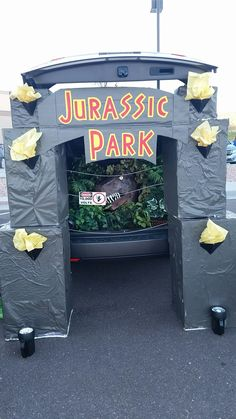 Jurassic park trunk or treat