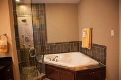 corner jacuzzi tub with shower - Google Search