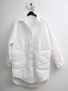 Gemma Styles, Fashion Design Sketchbook, Oversized Jacket, Linen Jackets, White Shirts, Quilted Jacket, Jacket Style, Sewing Clothes, Traditional Outfits