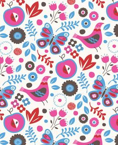 Apples Butterflies and Birds Victoria Johnson Design