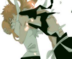 "Ichigo and Orihime ""Bleach"" Manga Bleach, Bleach Fanart, All Anime, Anime Love, Manga Anime, Ichigo E Orihime, Bleach Funny, Bleach Couples, Anime Rules"