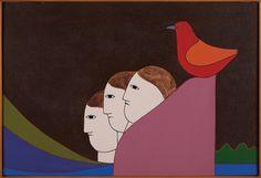 """Antonio Maia. """"Sentinela"""" (1988). Acrílica sobre tela. 50x73 cm"""