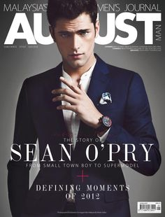 Sean OPry Exudes Charm on the Cover of August Man Malaysia