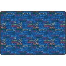 Kids Rugs: Read to Dream Pattern Rug - 6' X 9' Rectangle