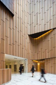 Westfield Sydney Office and Retail Podium- Australia- John Wardle Architects Home Design, Modern Interior Design, Wall Design, Design Design, Lobby Interior, Arch Interior, Hotel Interiors, Office Interiors, Architecture Details