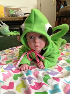 Homemade Pascal costume from Tangled for my little Leah.