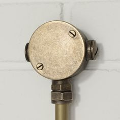 Attractive exterior cable truncking junction box in antiqued brass. A stylish solution to link and keep your outdoor lights looking the part. Conduit Lighting, Junction Boxes, Outdoor Lighting, Antique Brass, Exterior, Lights, Personalized Items, Antiques, Diy Light