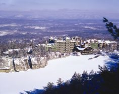 Mohonk Mountain House in the Winter - Jim Smith Photography