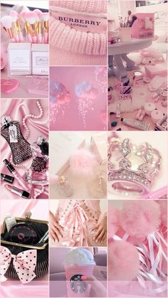 aesthetic pink pastel collage iphone diamond girly wallpapers backgrounds pretty
