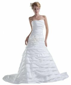 Orifashion White Strapless Ruched Bridal Gown (BWGHER0731)