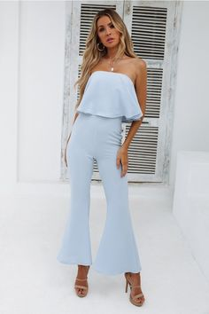 4df0b73cd9e DEAR EMILIA Only You Know Jumpsuit Blue. Channel vibes in the ...