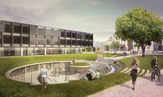 520d35a8e8e44edf1500007a_citizen-and-media-centre-winning-proposal-henning-larsen-architects_exterior_view_agora2.jpg 1,277×763 pixels