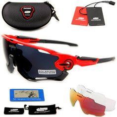 QUESHARK BRAND NEW TR90 Telaio Polarizzati Lente Occhiali Da Sole Ciclismo Occhiali Bike Occhiali Bicicletta 3 Lenti UV