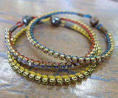 Quick Sparkly Wrap Bracelet DIY with Swarovski rhinestones and leather