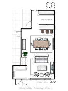 Pilihan 08 Ruang Dibahagikan Kepada 3 Bahagian Tamu Makan Dan Dapur Kering Susun Atur Seperti Rumah Kediaman Apartmen