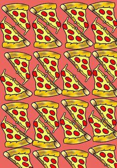 P I Z Z A #background queso #wish - backgrounds, #tumblr - collage pizza #lockscreen, #wallpapers, fondos de pantalla, teen - #fondo - delicious, #want