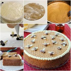 DIY Chocolate Honey Layer Cake with Bubble Wrap Decoration