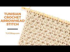 Tunisian Crochet Patterns, Tunisian Crochet Stitches, Beginning Crochet, Crochet For Beginners, Learn To Crochet, Crochet Designs, Crochet Projects, Crochet Videos, Project Management