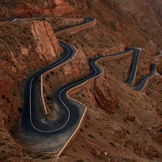 A winding road in Morocco