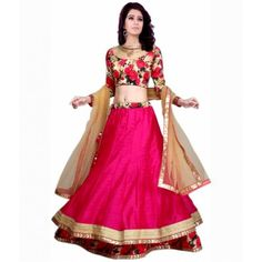 Women s Clothing - Beautiful Party Wear Embroidered Bhagalpuri Light Pink & Sky Blue Lehenga Choli - ( ) - Light pink and sky blue color bhagalpuri fabric lengha choli & silk fabric blouse & net with work fabric Raw Silk Lehenga, Floral Lehenga, Pink Lehenga, Net Lehenga, Anarkali Gown, Silk Dupatta, Ghagra Choli, Bridal Lehenga Choli, Wedding Lehnga