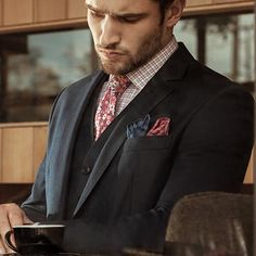 Good morning gents. #menswear #style #fashion #suit #accessories #pocketsquare #weekend by fashionbeanscom