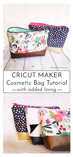 How to assemble the Cricut Maker cosmetic bag pattern