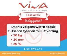 Syfer en SI-afkorting Afrikaanse Quotes, Education, Onderwijs, Learning